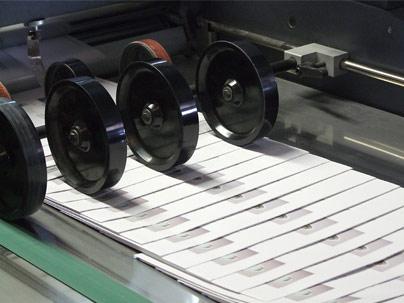 Detalle dels corrons de màquina d'enquadernació